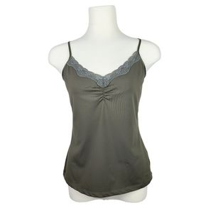 4/$30 RW&CO Olive Green Lace Trim Cami Large